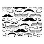 Funny Mustache Postcard