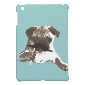 Funny Mustache Pug iPad Mini Case