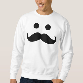 Funny Mustache Smiley Face Sweatshirt