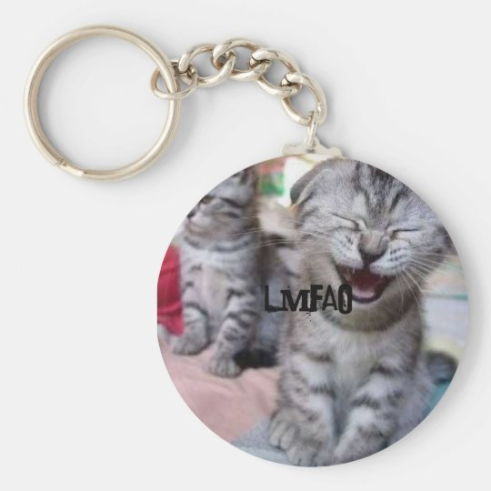 Funny 'n' Adorable Kitten Keyring - LMFAO!!! Basic Round Button Key Ring