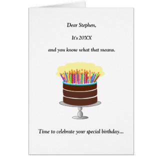 Funny Name-Age-Year 60th Birthday Greeting Card
