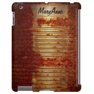 Funny Name Label on Rusty Tin Food Can iPad Case