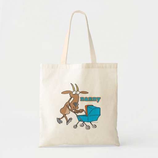 funny nanny goat pushing stroller cartoon Tote Bag