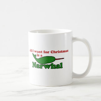 Funny Narwhal Christmas Classic White Coffee Mug