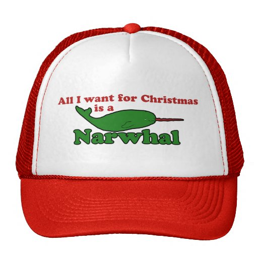 Funny Narwhal Christmas Hat