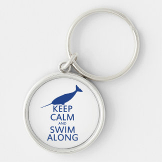 Funny Narwhal Humor Silver-Colored Round Key Ring