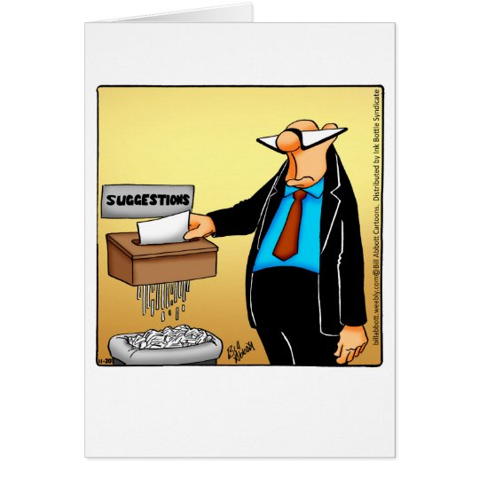 Funny National Bosses Day Greeting Card