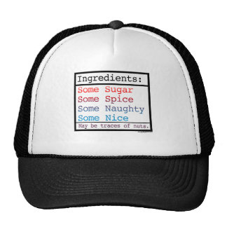 Funny Naughty and Nice Hat