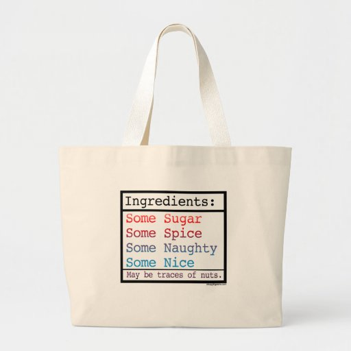 Funny Naughty and Nice Totebag Canvas Bags