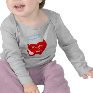 Funny Naughty But Nice Baby Outerwear Tee Shirt