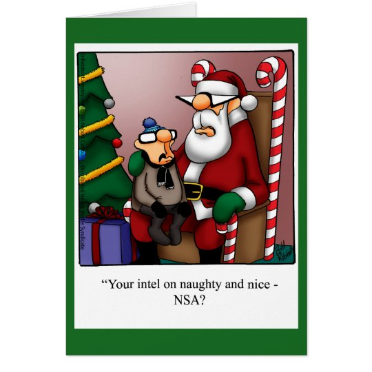 "Funny ""Naughty or Nice Intel"" Christmas Card"