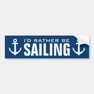 Funny nautical anchor bumper sticker for sailor
