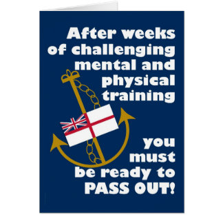 Funny Navy Passing Out Parade Congratulations Greeting Card