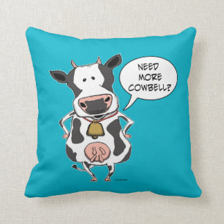 Funny Need More Cowbell Cow Pillow Cushion