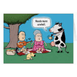Funny Needs More Cowbell Birthday Greeting Card