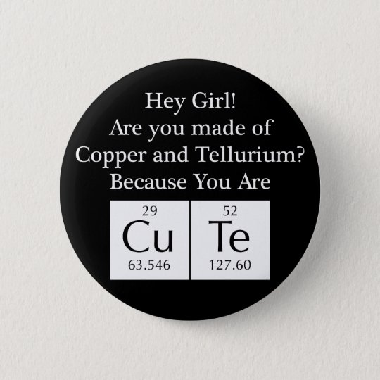 Funny Nerd Chat Up Line 6 Cm Round