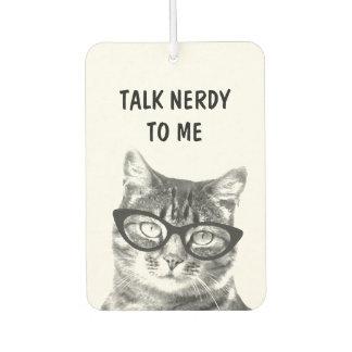 Funny NERDY CAT photo car air freshener