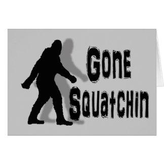 funny nerdy geek big foot sasquatch note card