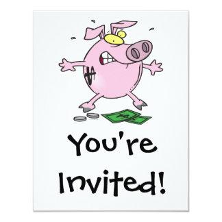 funny nervous piggy bank announcement