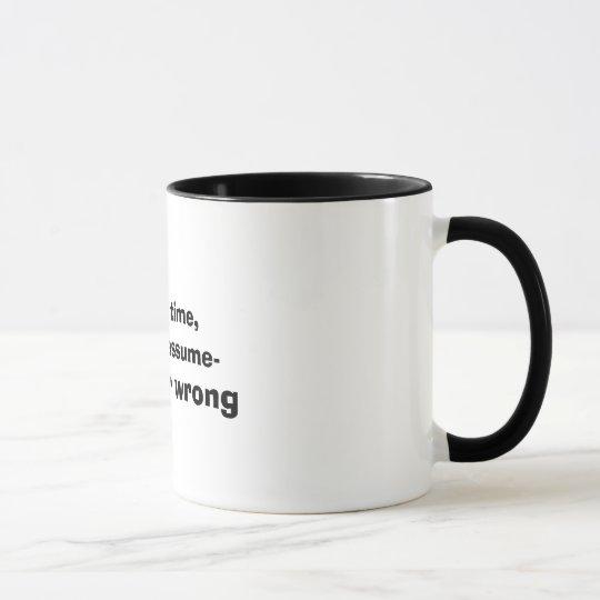 Funny Never Wrong Quote Mug