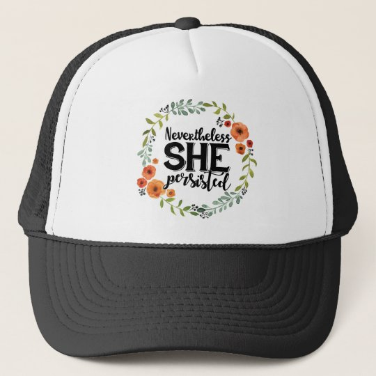 Funny Nevertheless she persisted cute vintage meme Cap