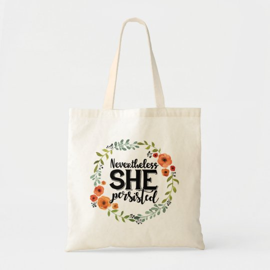 Funny Nevertheless she persisted cute vintage meme Tote