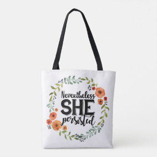 Funny Nevertheless she persisted cute vintage meme Tote Bag