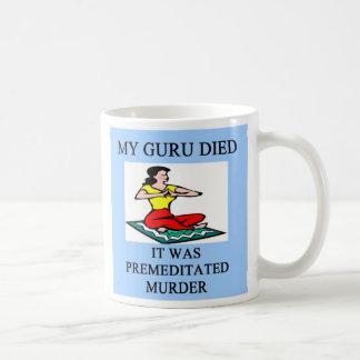 funny new age guru meditation joke, funny new a... basic white mug