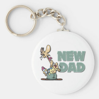 Funny New Dad Gift Keychains