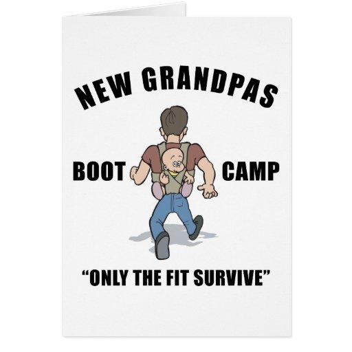 Funny New Grandpa Boot Camp Card