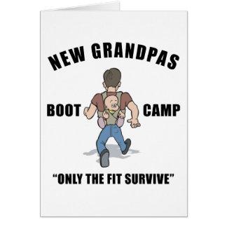 Funny New Grandpa Boot Camp Greeting Card