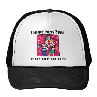 Funny New Year's Eve Trucker Hat
