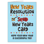 Funny New Years Note Card - Resolutions Humour