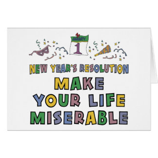 Funny New Year's Resolution Greeting Cards
