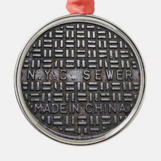 Funny New York City Sewer Humorous Novelty Photo Christmas Ornament