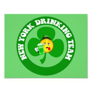 Funny New York St Patrick's Day 11 Cm X 14 Cm Invitation Card