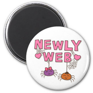 Funny Newly Wed or Web Spiders Pun Humor Magnets