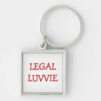 Funny Nickname for Lawyer Barrister - Legal Luvvie Key Ring