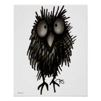Funny Night Owl Poster