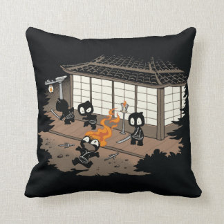 Funny Ninja Fire Fail Cartoon Cushion