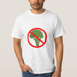 Funny NO BROCCOLI t-shirt