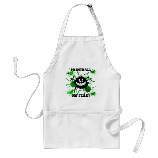 Funny no fear paintball aprons