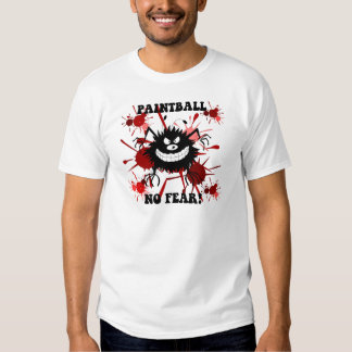 Funny no fear paintball t shirt