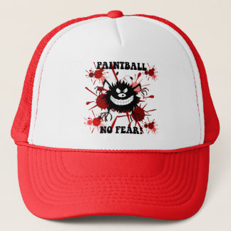 Funny no fear paintball trucker hat
