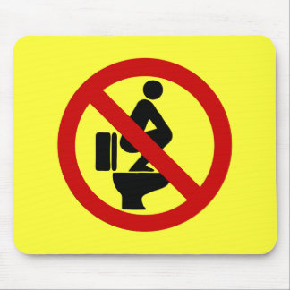 Funny NO Feet on the Seat ⚠ Thai Sign ⚠ Mouse Mat