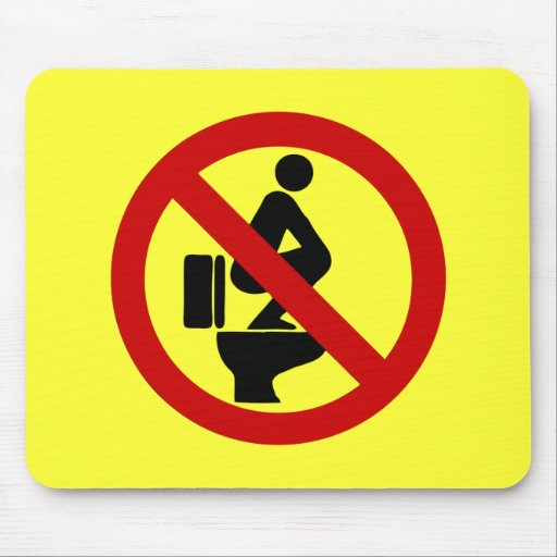 Funny NO Feet on the Seat ⚠ Thai Sign ⚠ Mousepad
