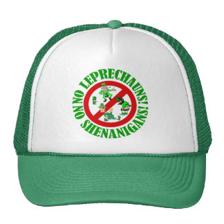 Funny no leprechauns St Patrick s day Hat