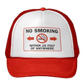 Funny No-Smoking Sign Mesh Hat
