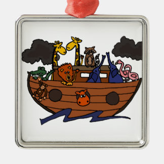 Funny Noah's Ark Cartoon Christmas Ornament