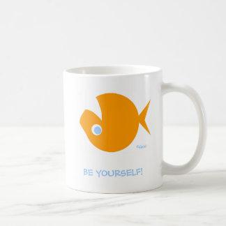 Funny Nonconformist Blue Eyed Golfish Coffee Mug